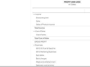 Company Porfit & Loss