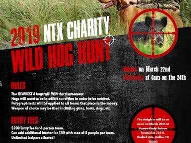 Wild Hog Hunting Day Flyer