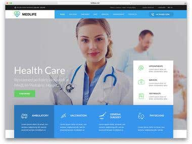 Hospital website & doctor app