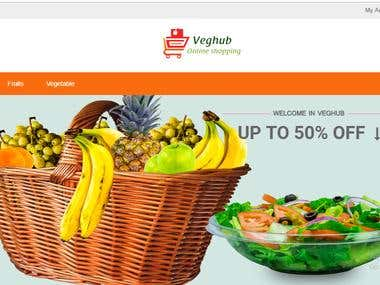 E-commerce website to sell fruits and vegetables.