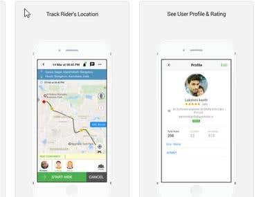 Ridesharing ios app