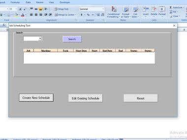 Manufacturing Machine Scheduling System