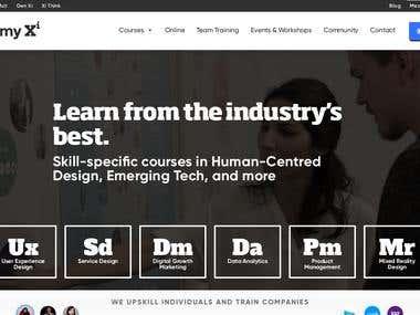 AcademyXi - Website