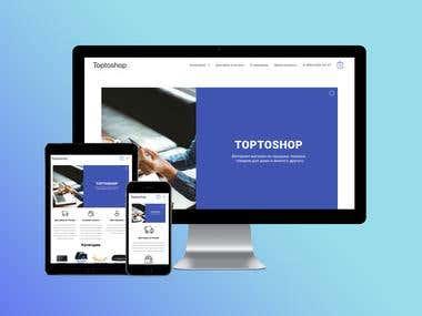 Wordpress shop toptoshop.ru