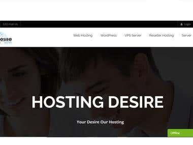 Hosting Provider Company website