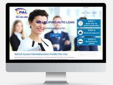 Auto Loan website - Web & Mobile Responsive
