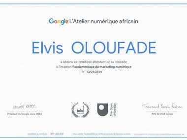 Formation du Google Numérique