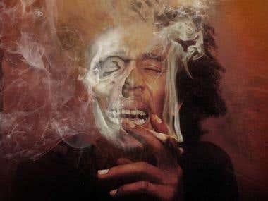 smoke effect and skull effect
