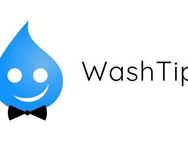 """Logo for """"WashTip"""""""