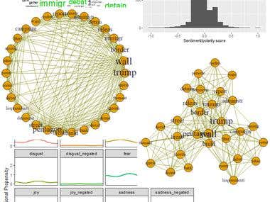 Text Network and Sentiment Analysis. Twitter Mining Project