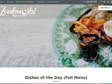 zezafoun.ca : A Restaurant Website