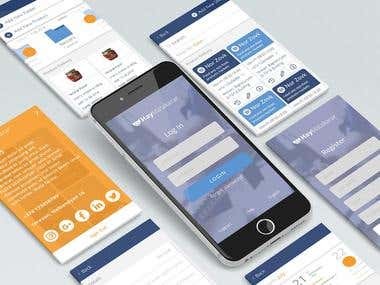 Landing Page, Dashboard and mobile app design