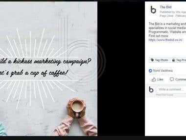 Facebook page Blog