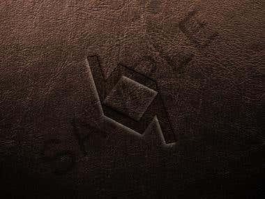 Logo - Monogram with Leather Mockup