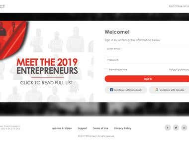 Angular Based Web Portal The Tony Elumelu Foundation (TEF)