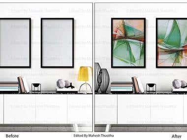 Interior wall art design
