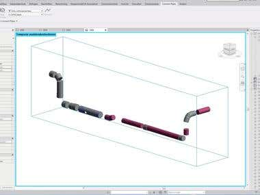 Revit add-in for connecting pipes.