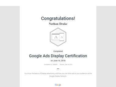 Google Ad Display Certification