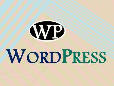 wordprees website design and make and customization and SEO