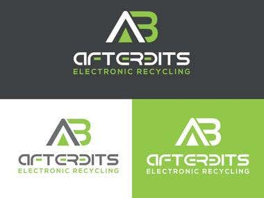 AB letter Electric company logo