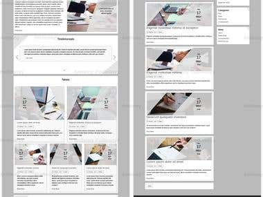 Accountant WordPress website