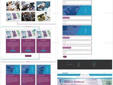 Internet Marketing WordPress website