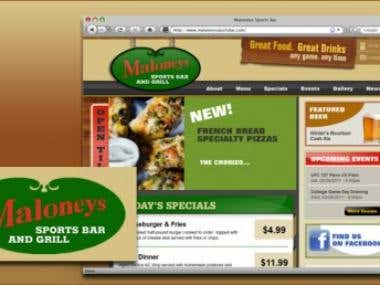 Maloneys Sports Bar Website