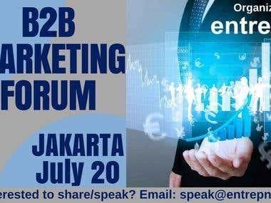 The Marketing forum Banner- Chain Media