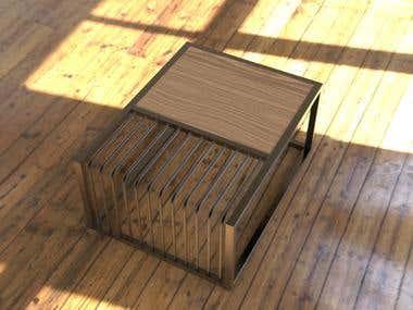 3D Furniture design and rendering