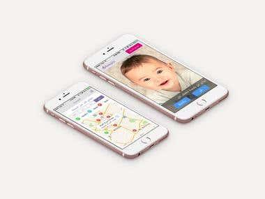 online babysitter booking iOS App