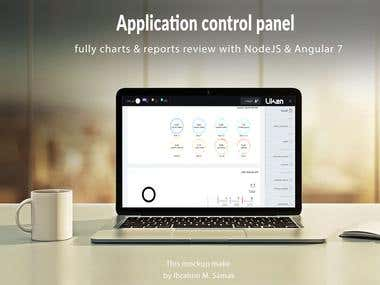 Angular and NodeJs Dashboard