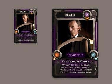 Card Design for Supernatural game series