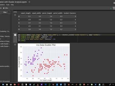 Species Segmentation with Cluster Analysis