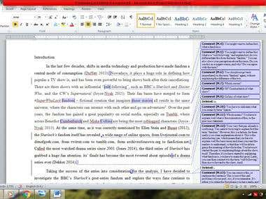 Proofreading and Editing