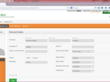 Orange HRM Customization