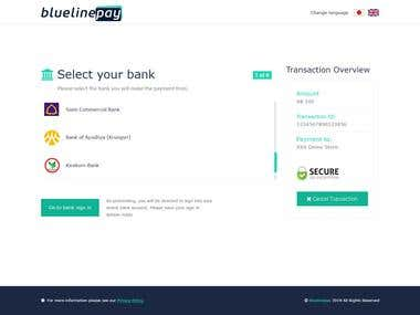 Webpage for Payment gateway