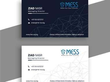 mess l Cypersecurity business card