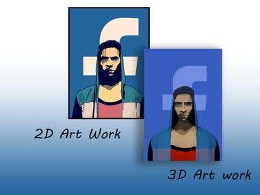 2D Art Design to 3D Art Design