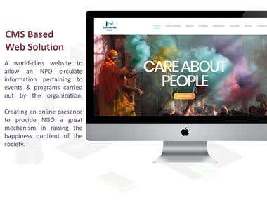 CMS Based Web Solution for an NPO