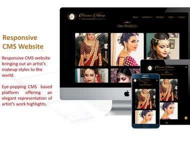 Responsive CMS Website for a fashion artist