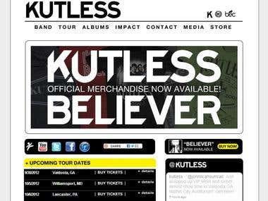Kutless.com Home page