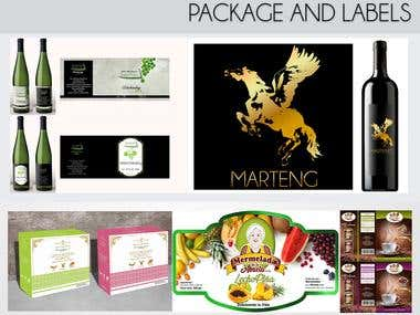 Package and labels