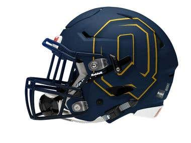 Queen's University Football Helmet