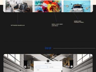 Redesign of Behance - Concept