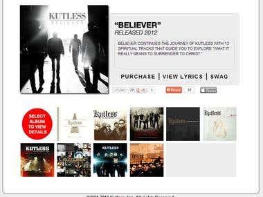 Kutless.com Album page