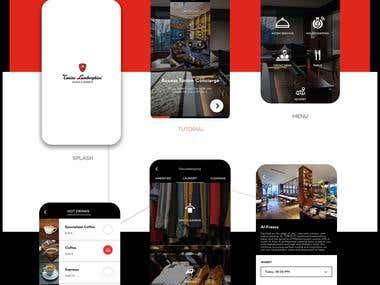 Demo app design for Lamborghini Hotels