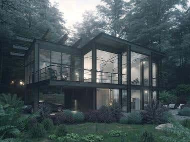 EXTERIOR Design & 3D visualization [MORE SAMPLES INSIDE]