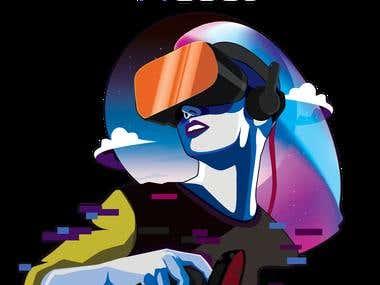 VRGood t-shirt design (AR/VR company)