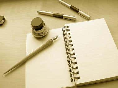 creative writing, Technical writing and Essay writing