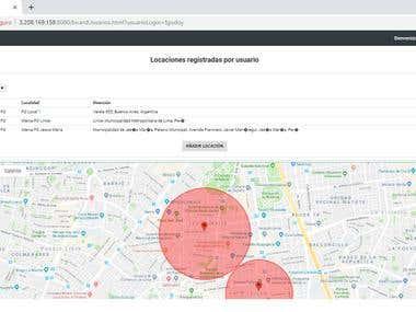 Aplicativo Web Spring / Api Google Maps / MongoDB